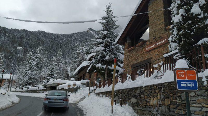 Gran Nevada al 29 de gener del 2019 a Borda Xixerella Erts anant cap a Pal Restaurant Borda típica de cuina Andorrana, Mediterrània, Internacional i Espanyola plats elaborats amb el saber fer de les antigues receptes de la millor cuina de muntanya.