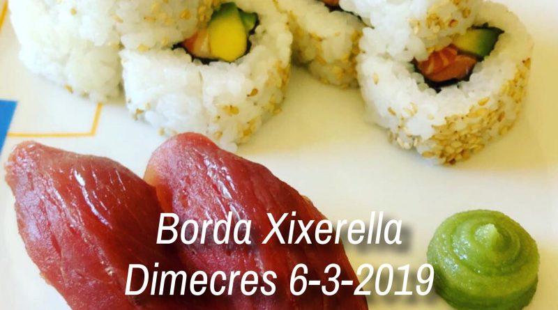 Borda Xixerella - setmana de Carnaval. Dimecres 6 - 3 - 2019 - 2a jornada de cuina Japonesa - Sushi - Reserves T. +376841109