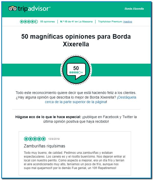50 magníficas opiniones para Borda Xixerella en Tripadvisor