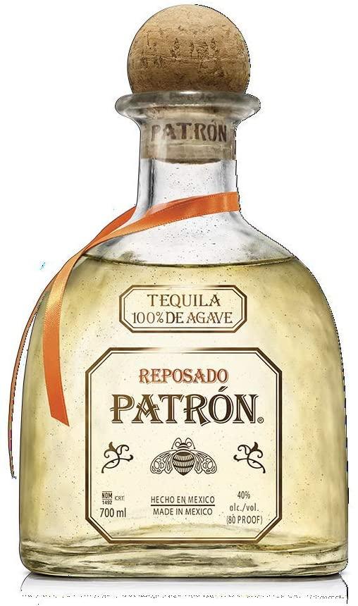 Patrón Reposado Tequila, 700ml Tequila madurado al menos dos meses para lograr un sabor suave con un dejo de roble Aroma a roble, ligeramente a agave fresca con indicios de cítricos Sabor suave y dulce. Excelente equilibrio de agave fresca y notas frutales, cítricos y miel