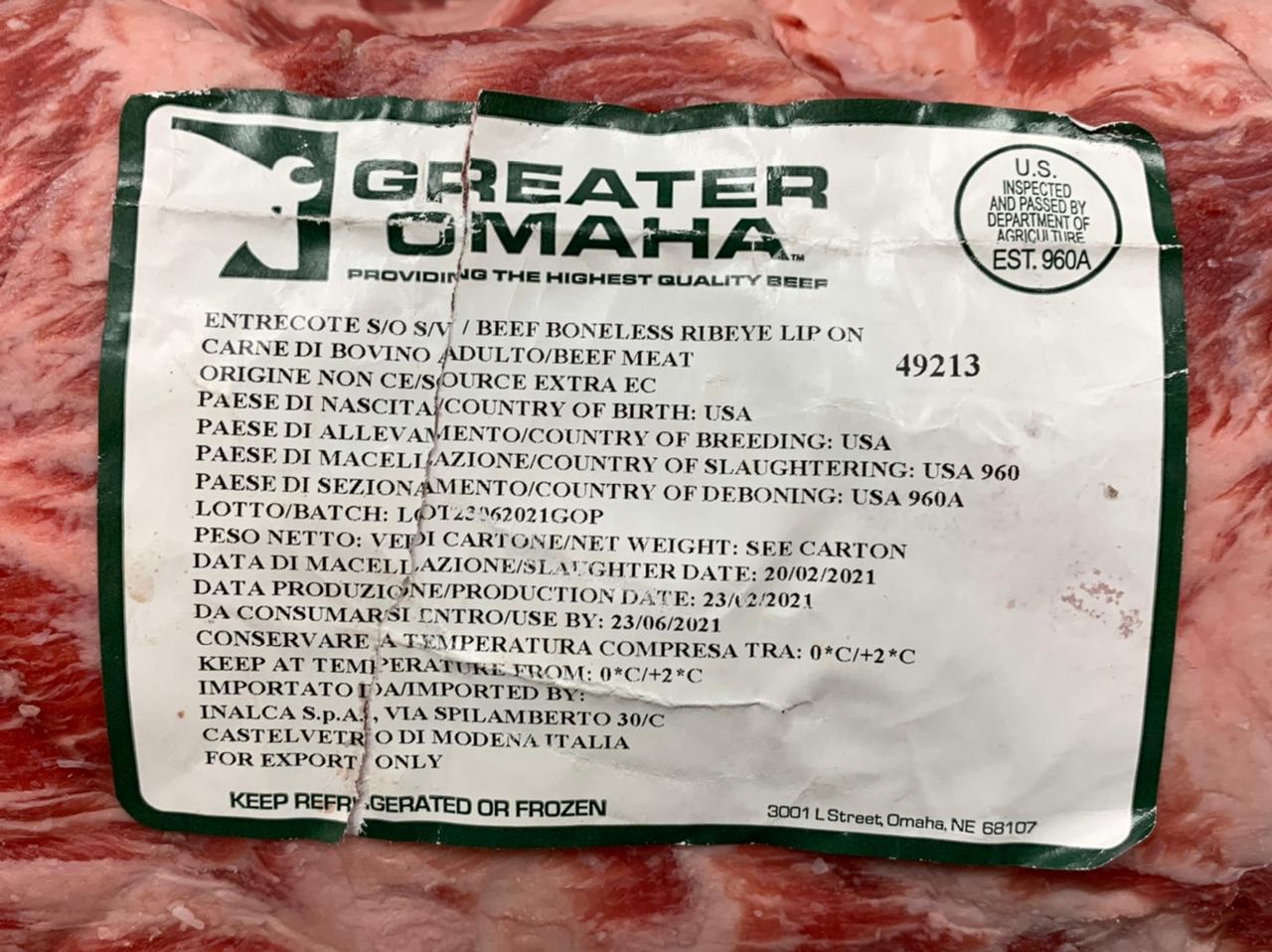 Omaha Greater Beef Angus beef from NEBRASKA bestiar boví del més bo del món i d'alta qualitat importat dels Estats Units. Carn de vedella única i exclusiva